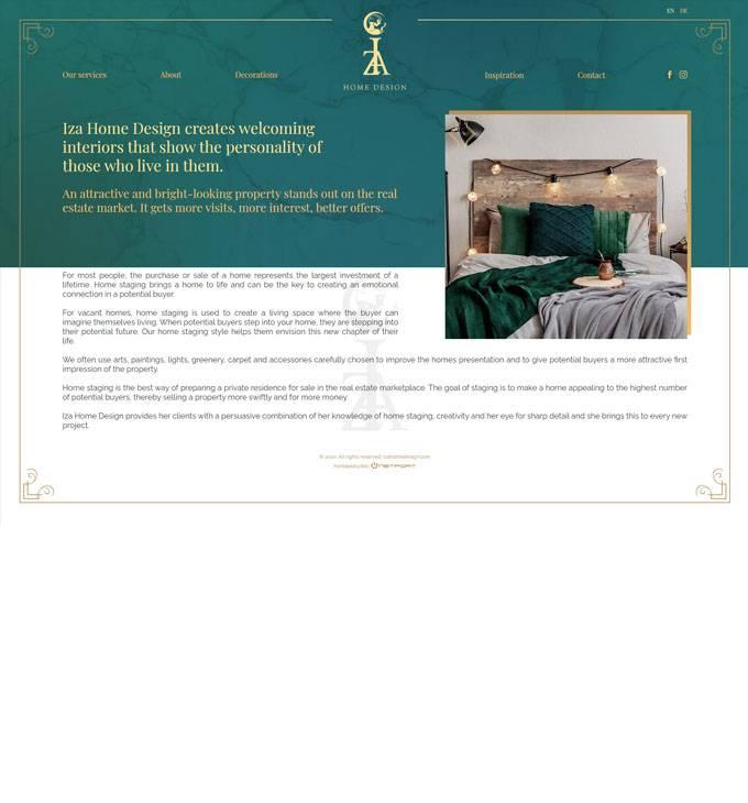 Izahomedesign.com - Konya Iza lakberendezés - reszponzív honlapkészítés