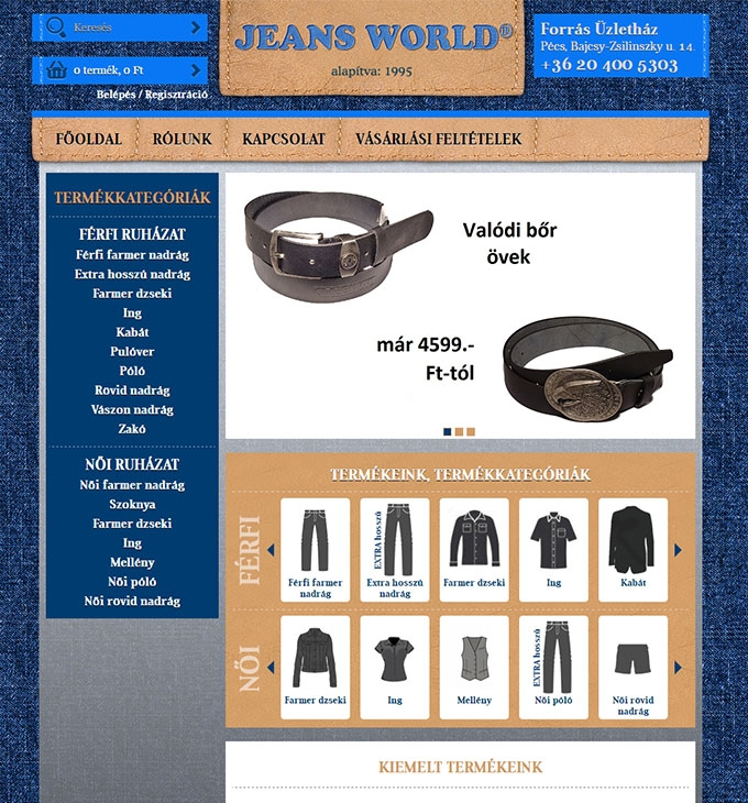 Jeansworld.hu ruházati webáruház