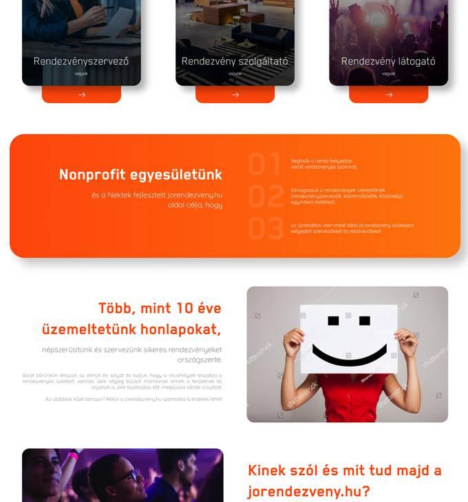 Jorendezveny.hu - Rendezvényszervezés, rendezvény szolgáltató, rendezvény látogató - reszponzív honlapkészítés