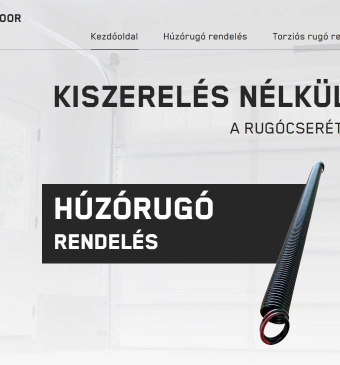 Kapurugok.hu - Húzórugó, torziós rugó rendelés - reszponzív honlapkészítés