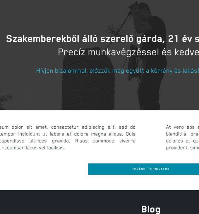 Kéményseprés.hu - kéményseprés szolgáltatások - Reszponzív honlapkészítés