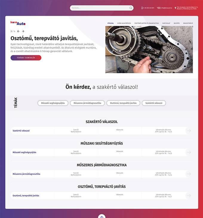 Kiaszakerto.hu - KIA, Hyundai műszaki segítségnyújtás - reszponzív fórum honlapkészítés