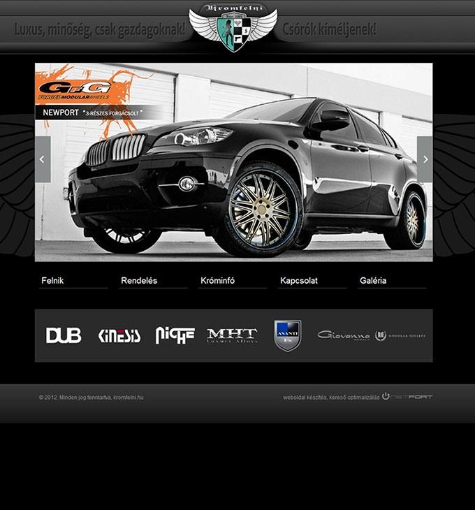 Krómfelni.hu weboldal elkészítése