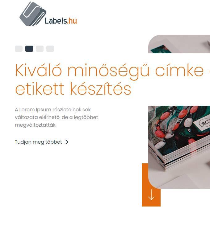 Labels.hu - Címke, etikett, műanyagkártya készítés - reszponzív honlapkészítés