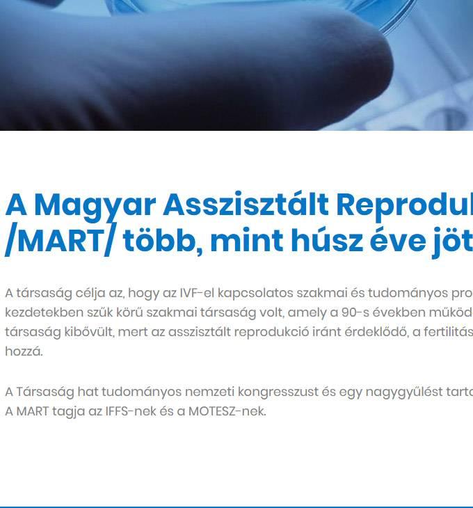 Magyarart.hu - Magyar Asszisztált Reprodukciós Társaság - Reszponzív honlapkészítés
