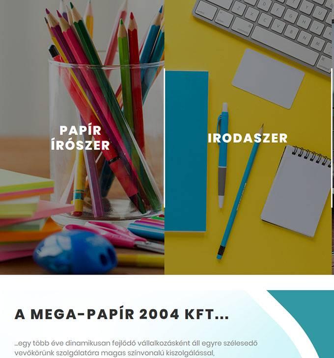 Megapapir.hu - Papír írószer, irodaszer - reszponzív honlapkészítés
