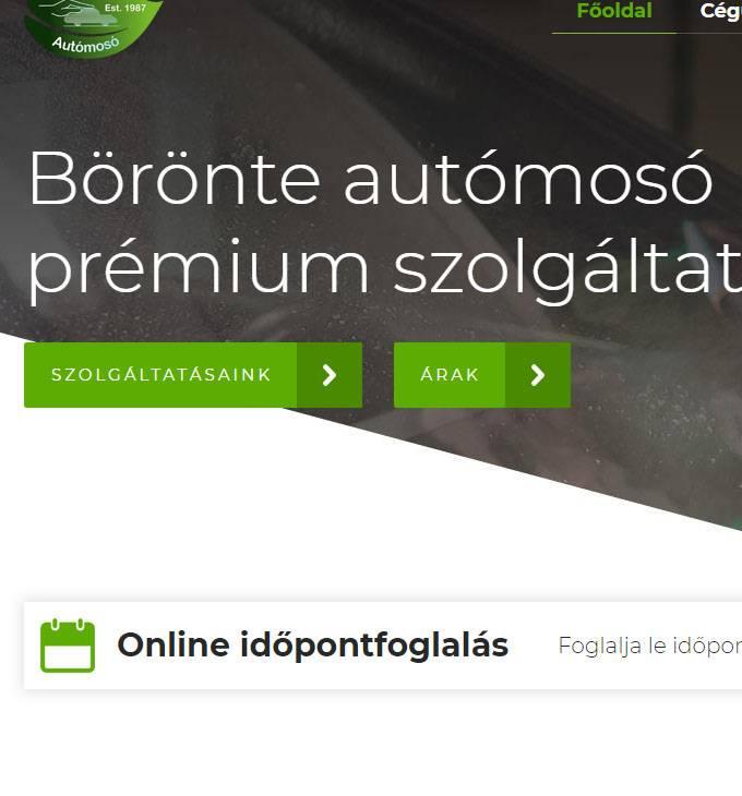 Mosat6.eu - Börönte autómosó Kecskemét - reszponzív honlapkészítés