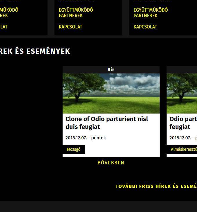 Mozsgotersege.hu - akadálymentes reszponzív honlapkészítés