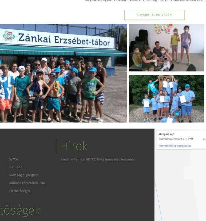 Nagydobszaiskola.hu - reszponzív általános iskola honlapkészítés