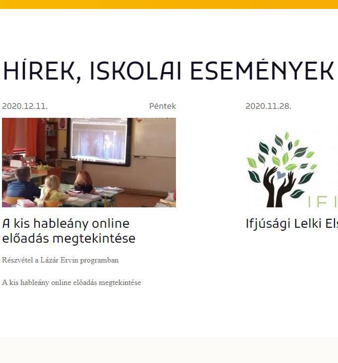 Nagypeterdiiskola.hu - Nagypeterdi Átalános Iskola - reszponzív honlapkészítés