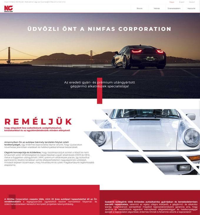 Nimfas.com - Nimfas Corporation hivatalos honlapja - Reszponzív weboldal készítés