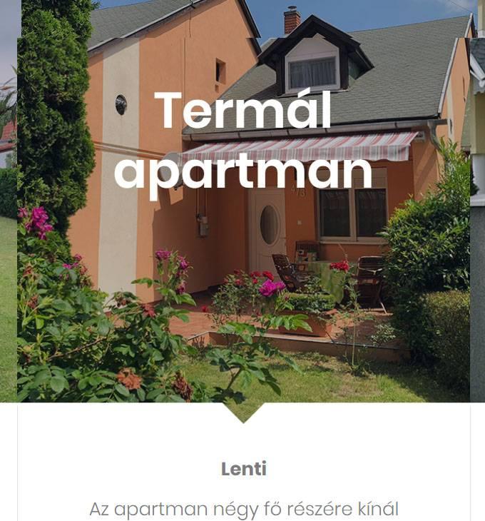 Ojoba.hu - balatoni szállások, apartmanok - reszponzív honlapkészítés
