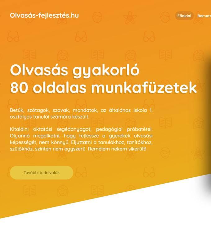 Olvasas-fejlesztes.hu - Olvasás gyakorló munkafüzetek - reszponzív honlapkészítés