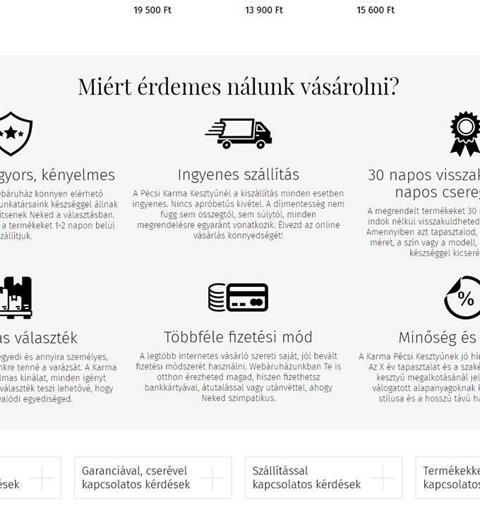 Pecsikesztyuaruhaz.hu mobilbarát webáruházkészítés