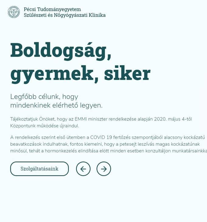 Pecsimeddoseg.hu - Pécsi Tudományegyetem Szülészeti és Nőgyógyászati Klinika - reszponzív honlapkészítés