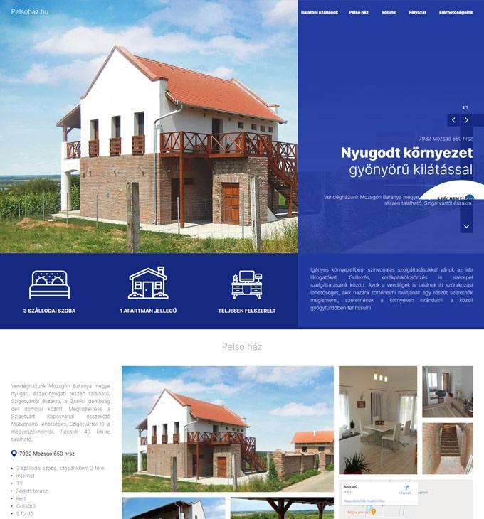 Pelsohaz.hu - Mozsgói vendégház - reszponzív honlapkészítés
