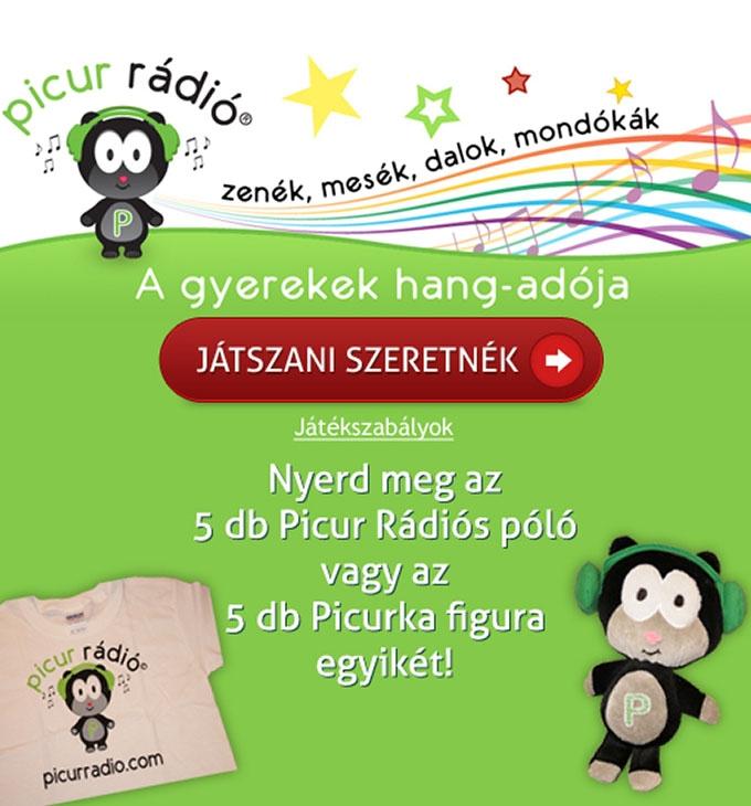 Picur Rádió Facebook nyereményjáték programozása és kapuoldal design