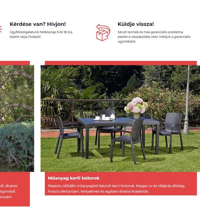 Poly-market.hu - Kerti bútor, kerti termék, háztartási elem - reszponzív webáruház készítés