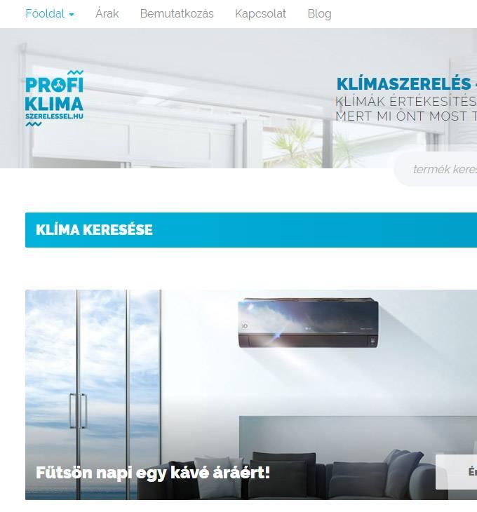 Profikklimaszerelessel.hu klíma értékesítés és szerelés - reszponzív webáruház készítésProfiklimaszereles.hu klíma értékesítés és szerelés - reszponzív webáruház készítés