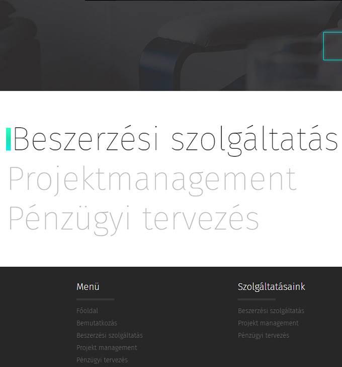 Rdbhungary.hu beszerzési szolgáltatásokat végző reszponzív weboldal készítése