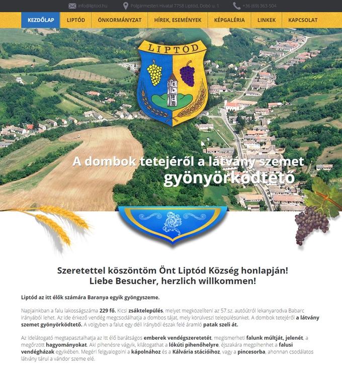Liptod.hu önkormányzati weboldal készítés