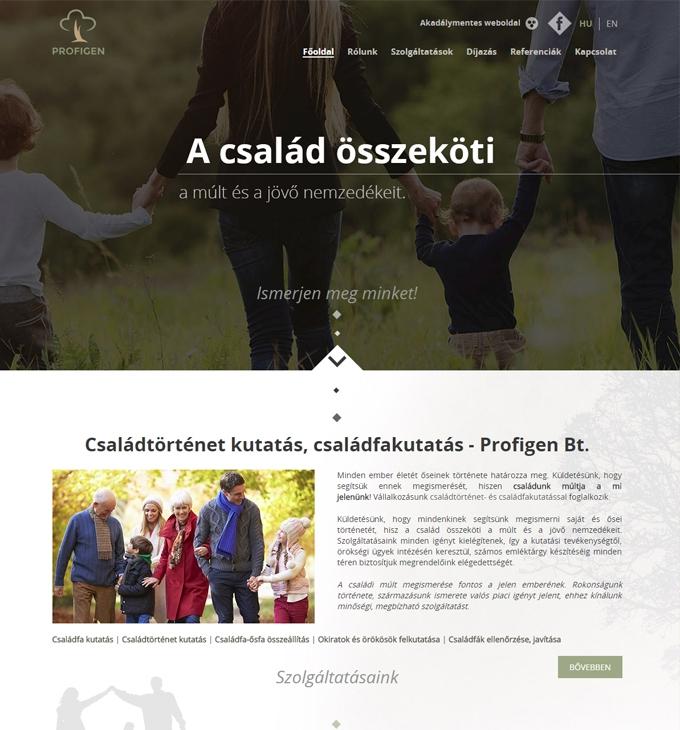 Profigen.hu reszponzív weboldalának elkészítése