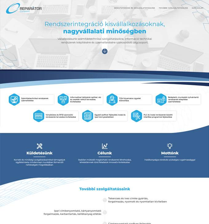 Reparator.hu - Számítástechnikai szolgáltatások - reszponzív honlapkészítés