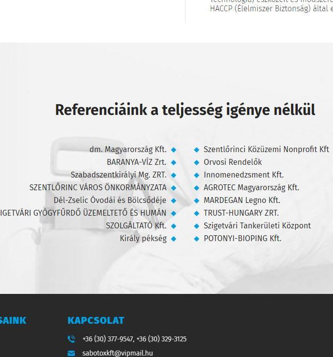 Sabotox.hu - rágcsálóirtás, rovarirtás, terménygázosítás - reszponzív honlapkészítés