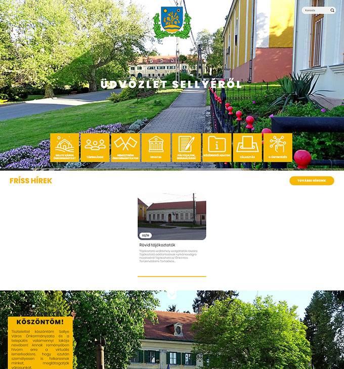 Sellye. hu - Önkormányzati reszponzív honlapkészítés