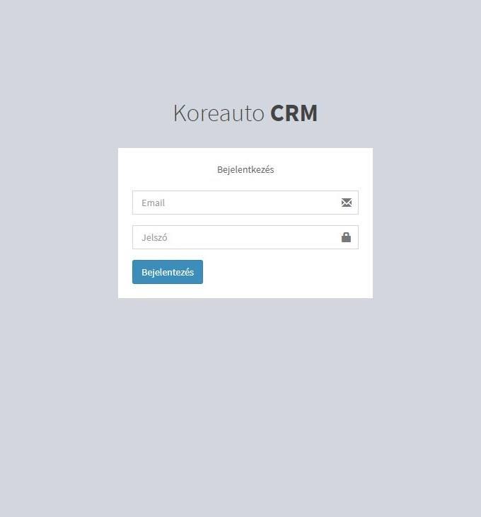 Shop.koreauto.hu - CRM