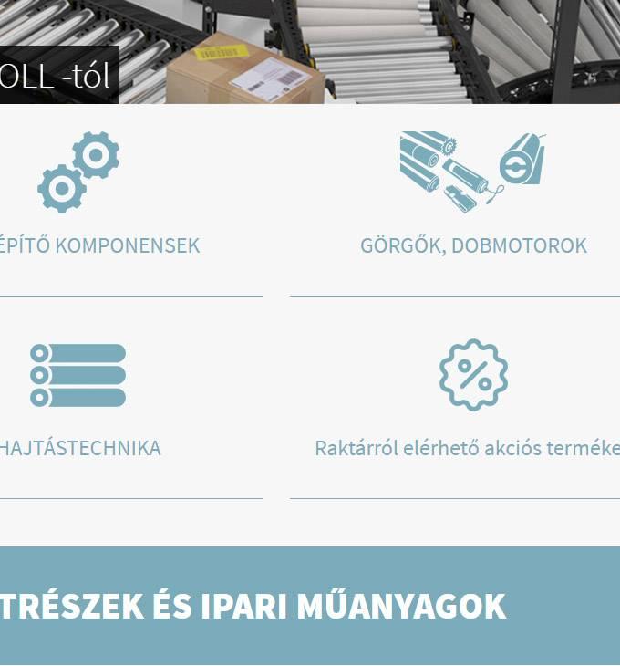 Shop.lorinczkft.hu - Szállítópálya alkatrészek és ipari műanyagok - reszponzív webáruház készítés