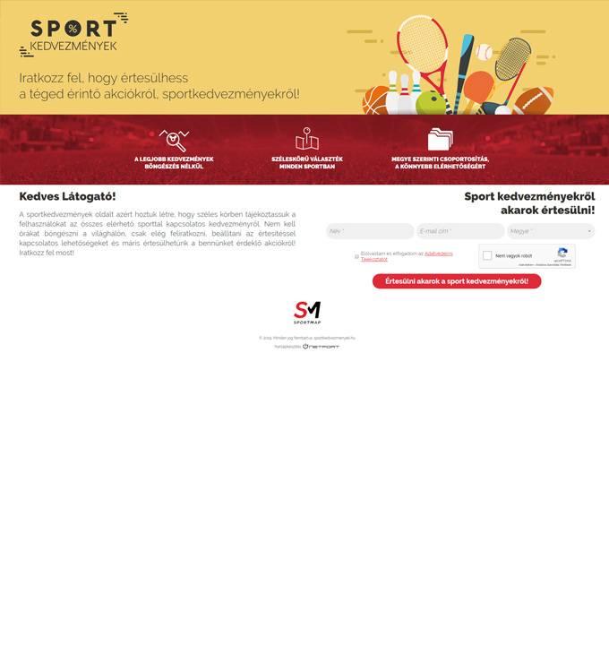 Sportkedvezmenyek.hu - Sport kedvezmények - reszponzív honlapkészítés