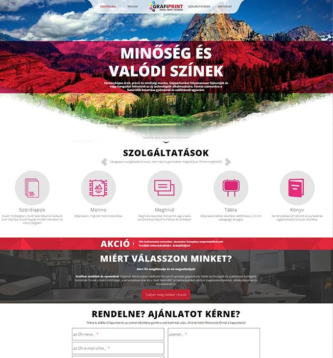Grafiprint.hu céges honlap készítés