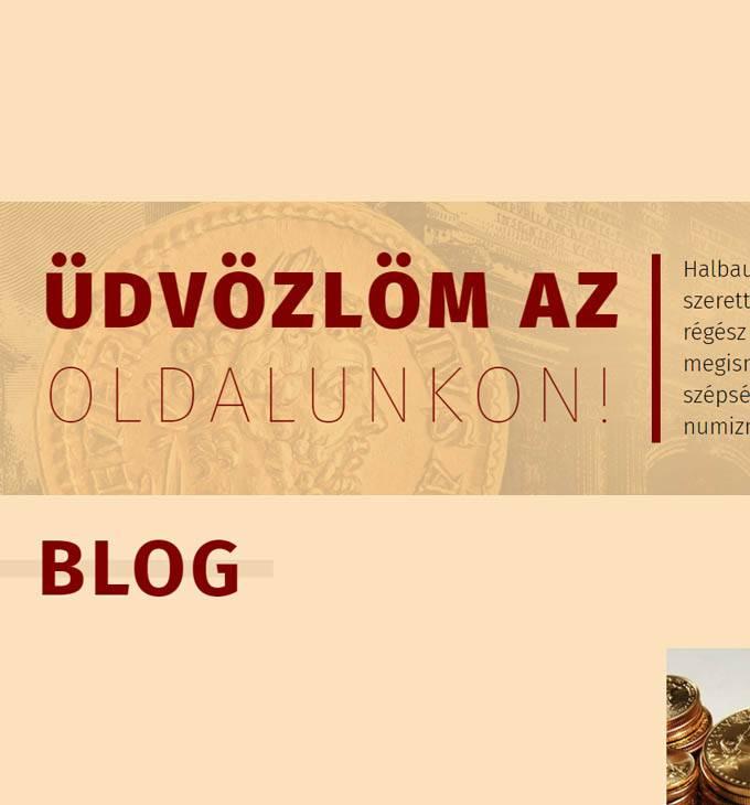 Stephansnumismatic.eu pénzérme felvásárlással foglalkozó weboldal készítése