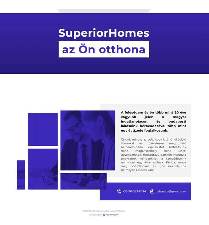 Superiorhomes.hu - bérelhető, kiadó lakások Budapesten - Reszponzív honlapkészítés