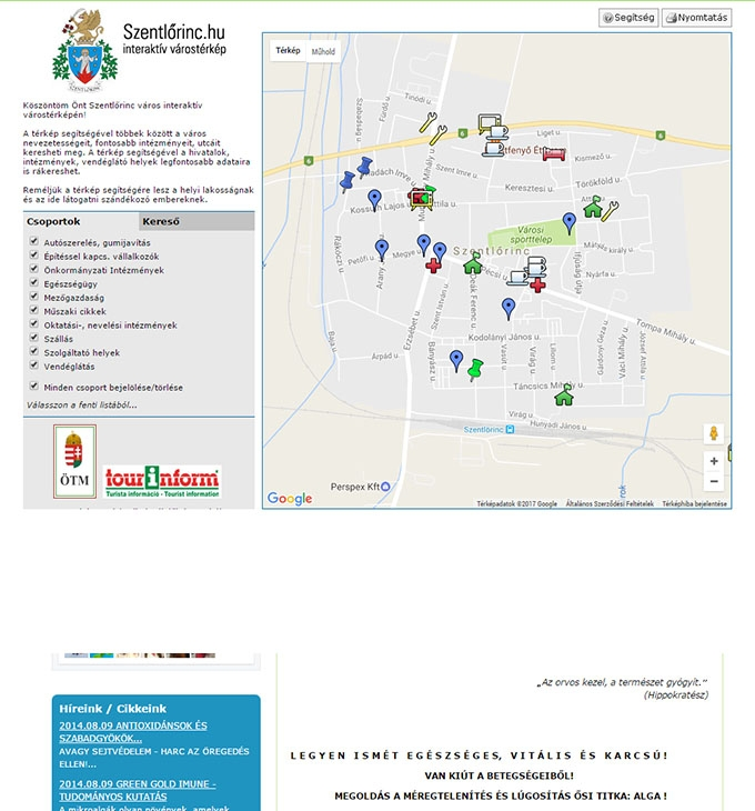 Szentlőrinc Város Interaktív Térképe