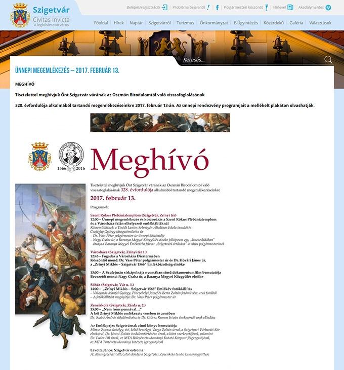 Szigetvar.hu önkormányzati weboldal készítése