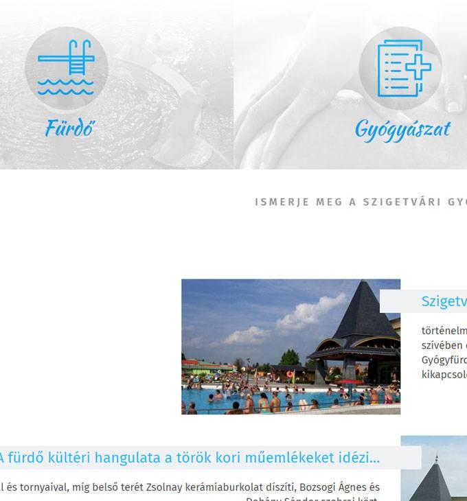 Szigetvarigyogyfurdo.hu - Szigetvári gyógyfürdő - reszponzív honlapkészítés