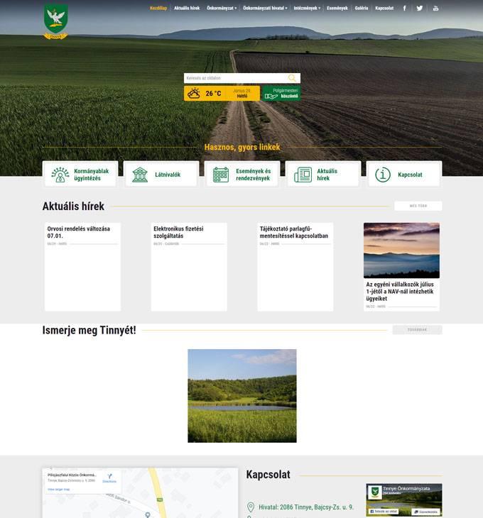 Tinnye.hu - Tinnye Község hivatalos honlapja - reszponzív honlapkészítés