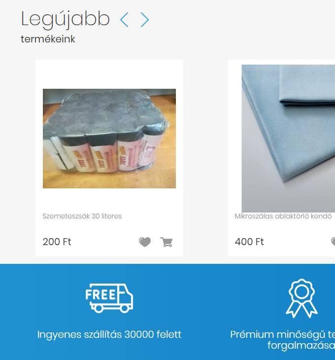 Titsztitoszerpiac.hu - széleskörű tisztítószerek - reszponzív webáruház készítés
