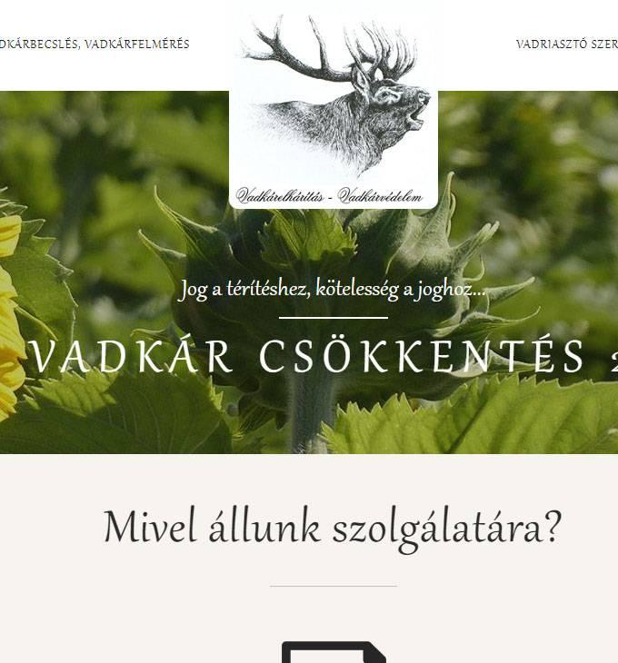 Vadkarvedelem.hu - Vadkár védelem, vadkár elhárítás - reszponzív honlapkészítés