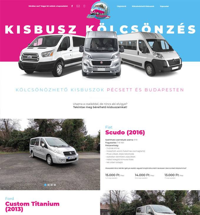 Viddmagad.hu - Kisbusz bérlés Pécs-Budapest - reszponzív honlapkészítés