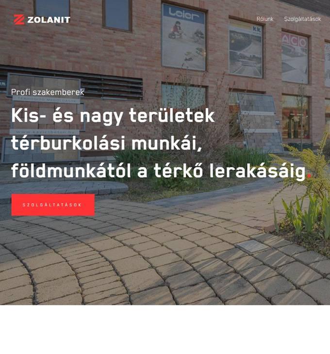 Zolanit.hu - térkő, térkövezés Kaposvár - reszponzív honlapkészítés
